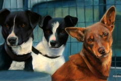 Working Trio - 26cm x 51cm, Pastel - Commission