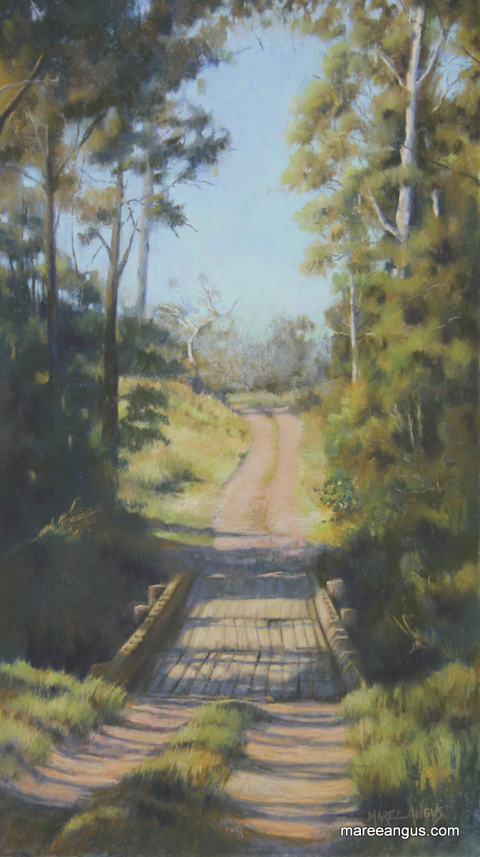 Bridge at Collaroy II - 58cm x 32cm, Pastel - Commission
