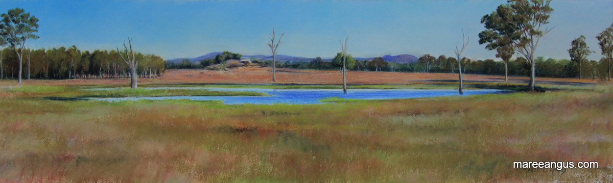 Collaroy Homestead - 19.5cm x 65.5cm, Pastel - SOLD