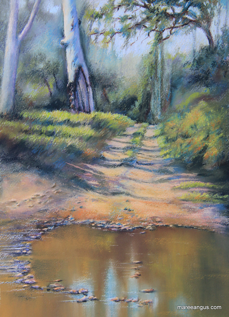 Connors River, Plein Air - 27cm x 17.5cm, Pastel