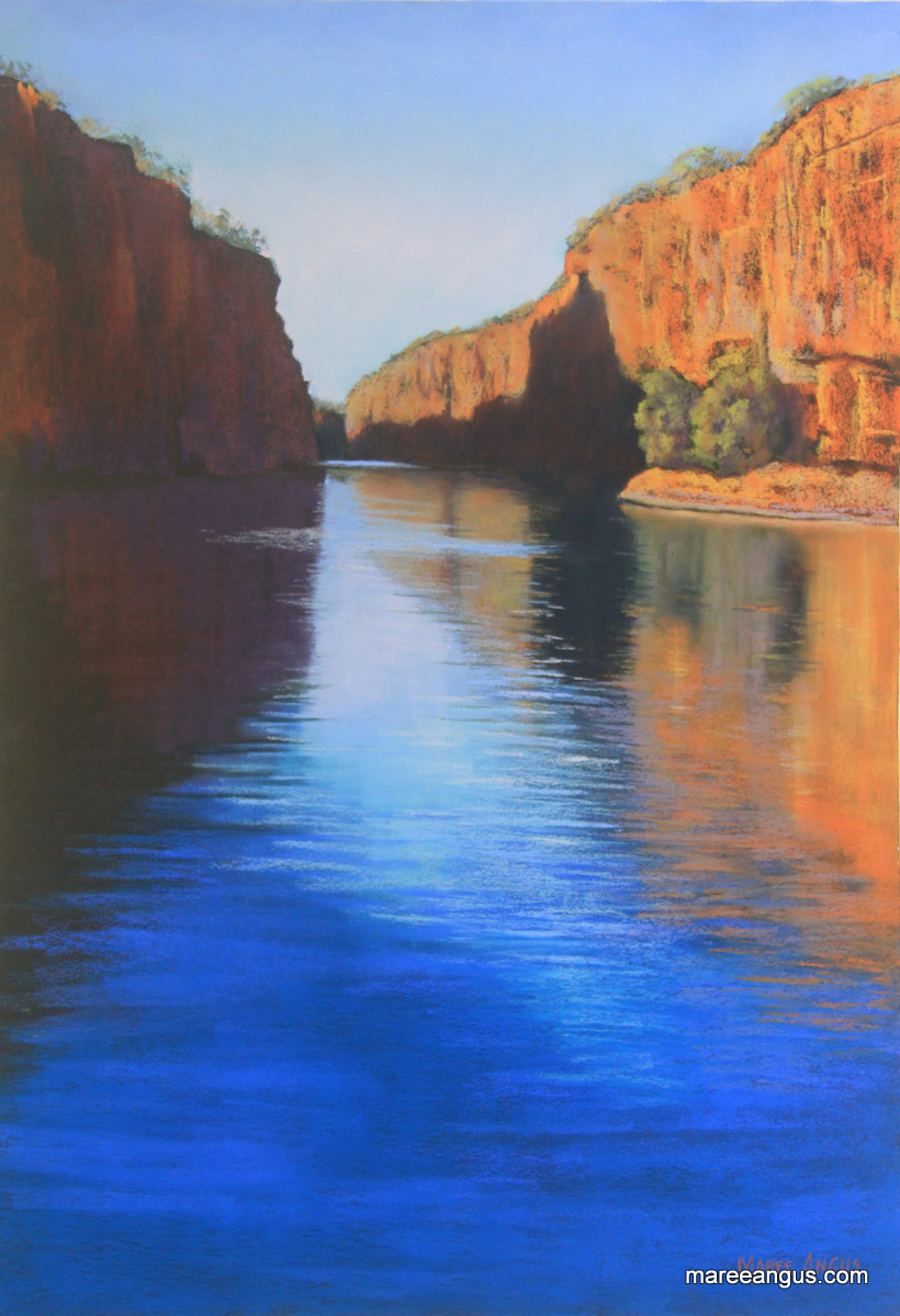 Katherine Gorge - 65cm x 45cm, Pastel - $1750 (framed)