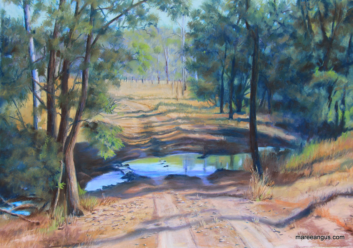Undercliffe Homestead II - 48cm x 68cm, Pastel - Commission