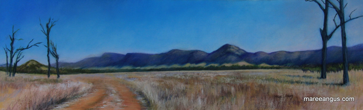 White Bluff, Marylands - 19.5cm x 65.5cm, Pastel - SOLD