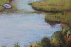 New Zealand Stream 19cm x 13cm Pastel