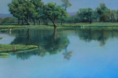 Still Waters - 31cm x 75cm, Pastel - Commission