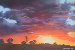 Sunset at Kimberley - 45cm x 65cm, Pastel - Commission