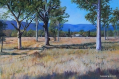 Undercliffe Homestead - 45cm x 65cm, Pastel - Commission