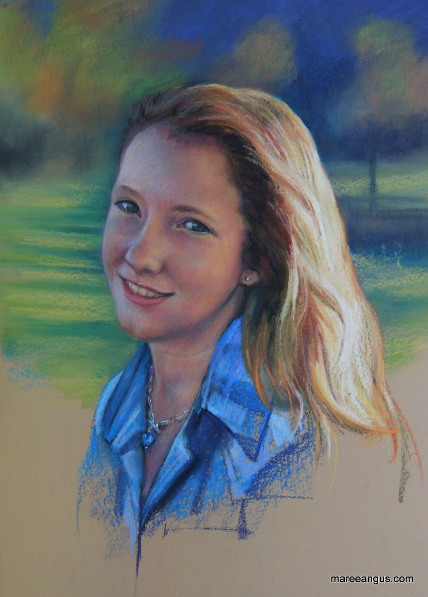Courtney - 45cm x 32cm, Pastel - Commission